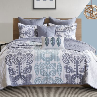 Leora 7 Piece Coverlet Set Size: Full/Queen