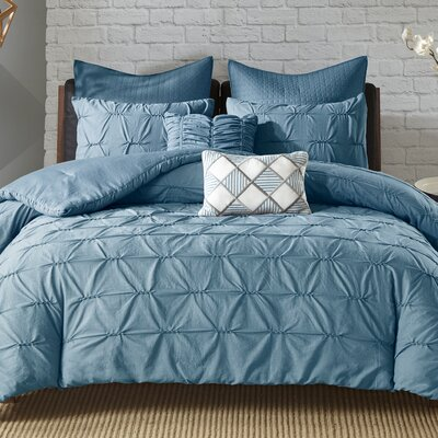 Carini 7 Piece Comforter Set Size: Full/Queen, Color: Blue