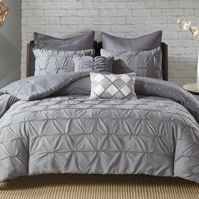 Carini 7 Piece Comforter Set Size: Full/Queen, Color: Gray