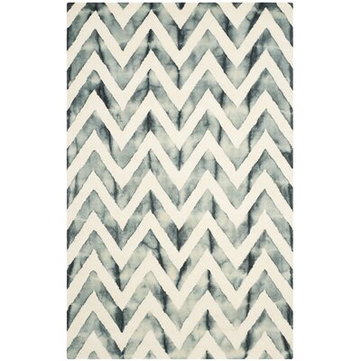 Crux Ivory/Gray Area Rug Rug Size: 9 x 12