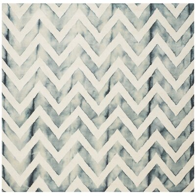 Crux Ivory/Gray Area Rug Rug Size: Square 7
