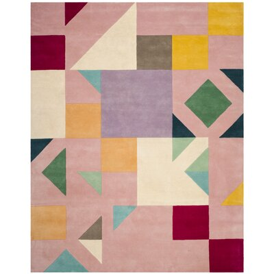 Carlberg Hand-Tufted Pink/Orange Area Rug Rug Size: 8 x 10