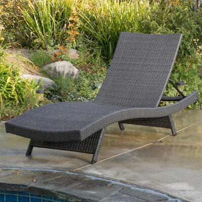 Adjustable Chaise Lounge Finish: Gray