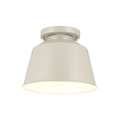 Sarah 1-Light Semi Flush Mount Finish: Hi Gloss Grey