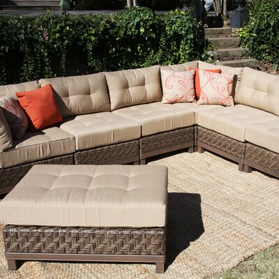 Larosa 7 Piece Sectional Seating Group with Cushion