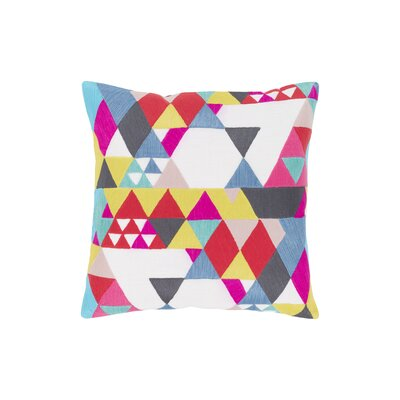 Annika 100% Cotton Throw Pillow Size: 18 H x 18 W x 4 D
