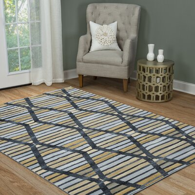 Lasley Black Area Rug Rug Size: Rectangle 710 x 1010