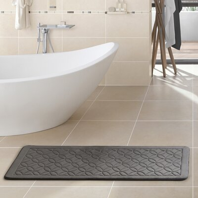Kerry Memory Foam Bath Rug Color: Black