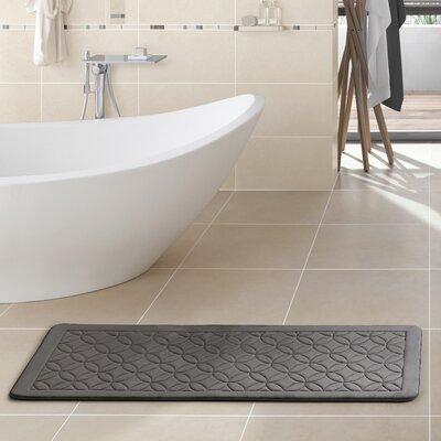 Carlos Memory Foam Bath Rug Color: Black