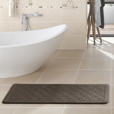Kerry Memory Foam Bath Rug Color: Chocolate