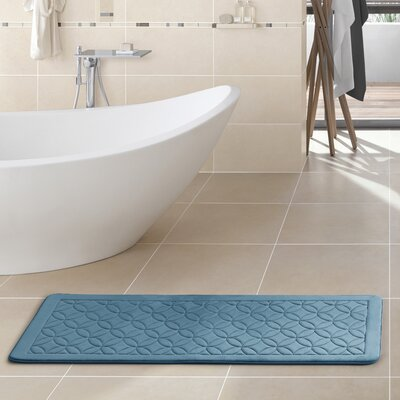 Kerry Memory Foam Bath Rug Color: Dark Blue