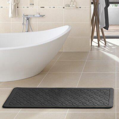 Kerry Memory Foam Bath Rug Color: Gray