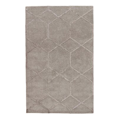 Amado Hand-Tufted Silk Beige Area Rug Rug Size: Rectangle 36 x 56
