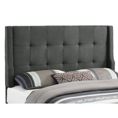 Carmean Upholstered Panel Headboard Size: Full/Queen, Upholstery: Charcoal