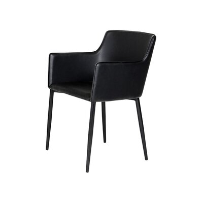 Litva Arm Chair in Black