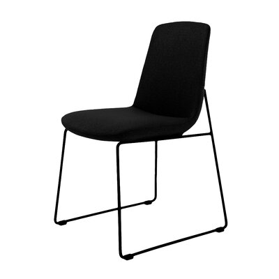 Atwell Side Chair Upholstery: Black