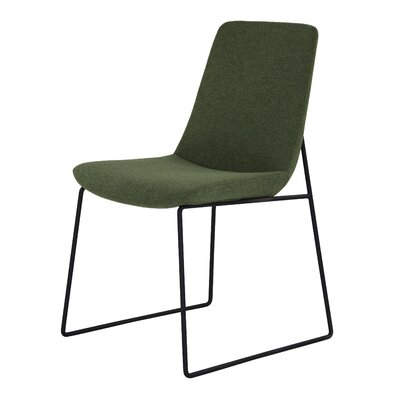 Atwell Side Chair Upholstery: Green