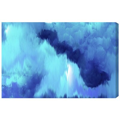 'Vivanti Blue' Painting Print on Wrapped Canvas Size: 10