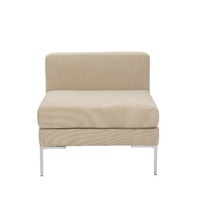 Mccurley Armless Chair Upholstery: Tan