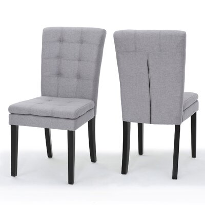 Cribb Fabric Side Chair Upholstery: Light Gray