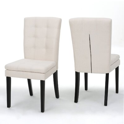 Cribb Fabric Side Chair Upholstery: Beige