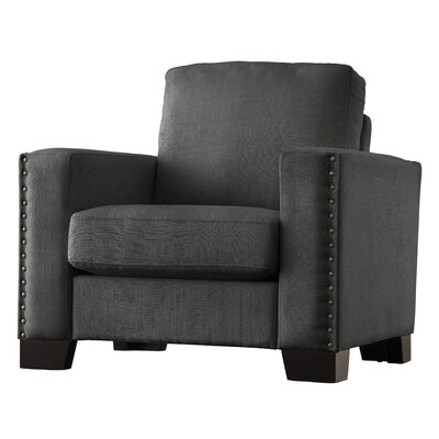 Blackston Nailhead Trim Armchair Upholstery: Dark Gray