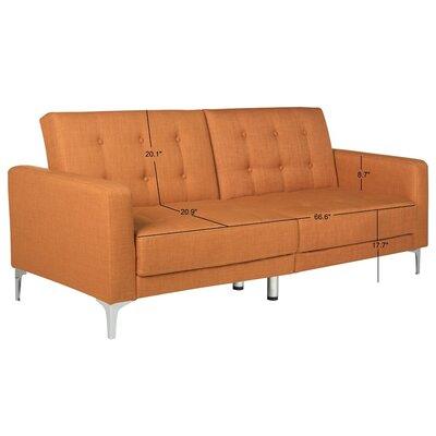 Jayde Foldable Sleeper Sofa Upholstery: Orange