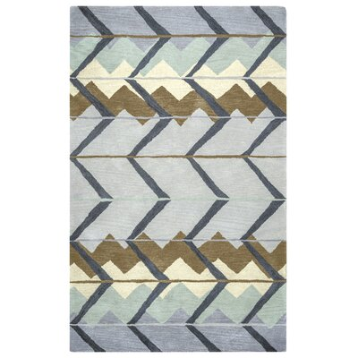 Larkins Rectangle Hand-Tufted Blue/Light Blue Area Rug Rug Size: Rectangle 8 x 10