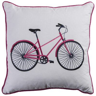 Margot Cotton Lumbar Throw Pillow Color: Pink