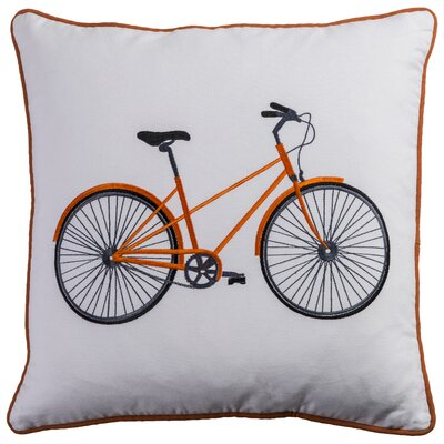 Baril Cotton Lumbar Throw Pillow Color: Orange