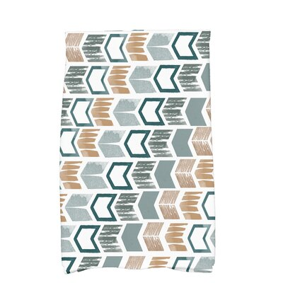 Waller Peace 1 Geometric Hand Towel Color: Teal