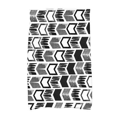 Waller Peace 1 Geometric Hand Towel Color: Black