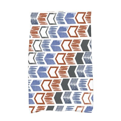 Borel Peace 1 Geometric Hand Towel Color: Gray