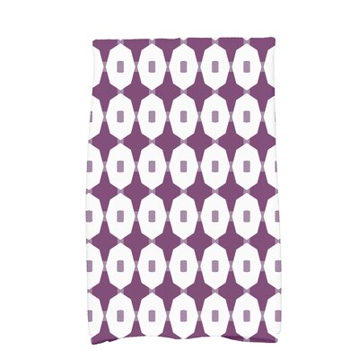 Borel Arrow Geometric Hand Towel Color: Purple