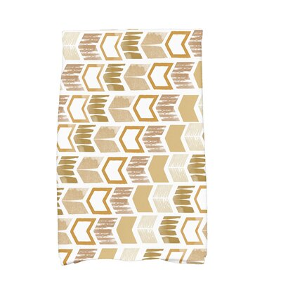 Waller Peace 1 Geometric Hand Towel Color: Gold