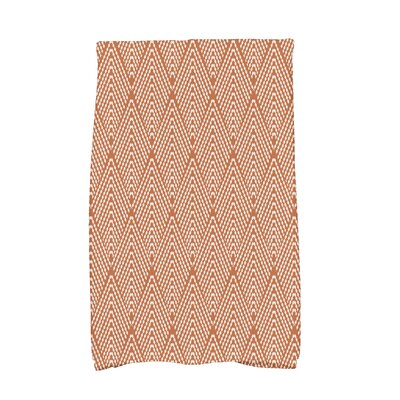 Waller Wenstry Geometric Hand Towel Color: Orange