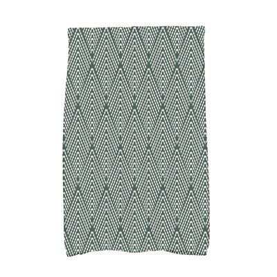 Waller Wenstry Geometric Hand Towel Color: Green