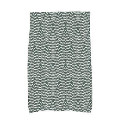 Borel Wenstry Geometric Hand Towel Color: Green