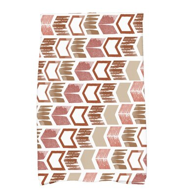 Waller Peace 1 Geometric Hand Towel Color: Taupe