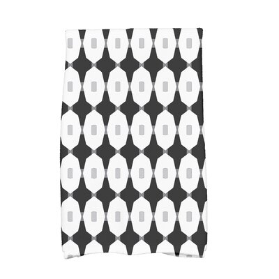Waller Arrow Geometric Hand Towel Color: Black