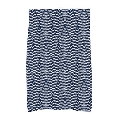 Borel Wenstry Geometric Hand Towel Color: Navy Blue
