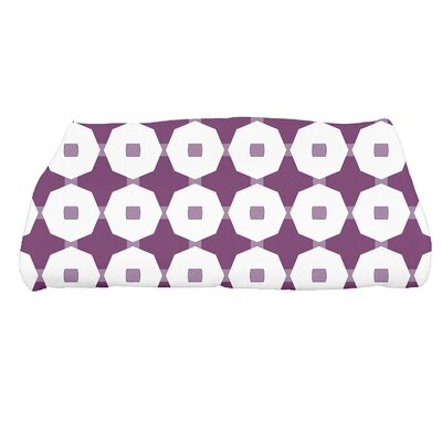 Waller Arrow Geometric Bath Towel Color: Purple