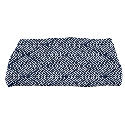 Waller Bath Towel Color: Navy Blue