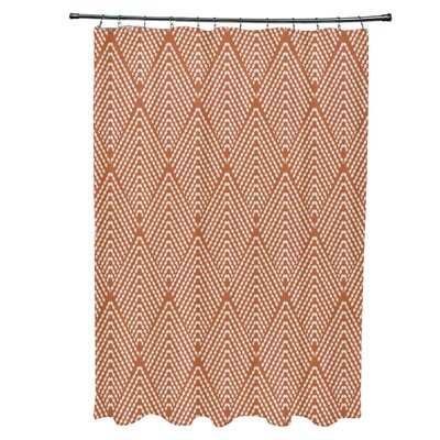Waller Lifeflor Geometric Shower Curtain Color: Orange