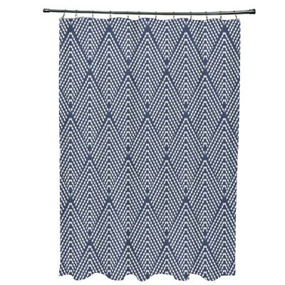 Waller Lifeflor Geometric Shower Curtain Color: Navy Blue