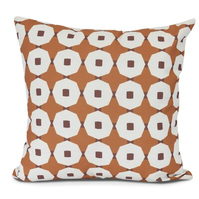 Waller Square Throw Pillow Size: 18 H x 18 W, Color: Orange