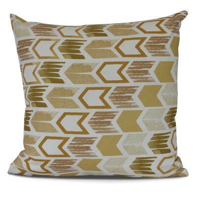 Waller Arrow Geometric Outdoor Throw Pillow Size: 18 H x 18 W, Color: Gold