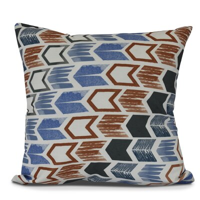 Waller Arrow Geometric Outdoor Throw Pillow Size: 20 H x 20 W, Color: Gray