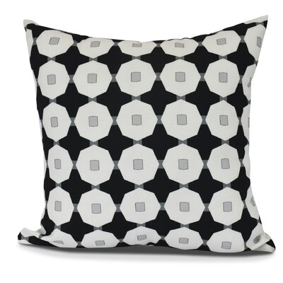 Waller Square Throw Pillow Color: Black, Size: 18 H x 18 W
