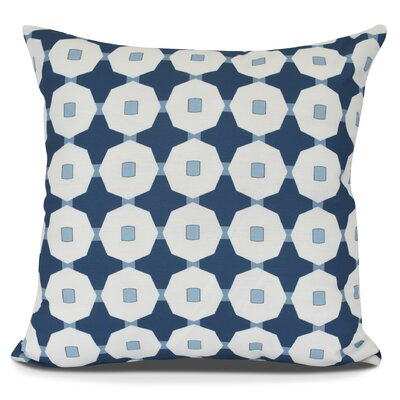 Borel Button Up Geometric Outdoor Throw Pillow Size: 20 H x 20 W, Color: Blue